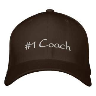 #1 Coach Embroidered Baseball Cap