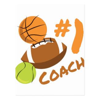 #1 Coach Postcard