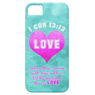 1 Cor 13:13 The Greatest is LOVE Bible Verse Quote Case For The iPhone 5