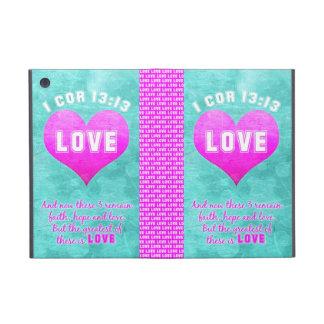 1 Cor 13:13 The Greatest is LOVE Bible Verse Quote iPad Mini Cover