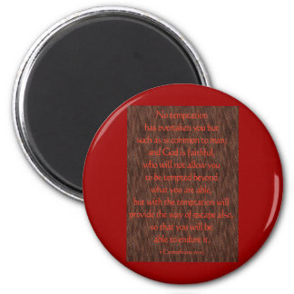 1 Corinthians 10:13 6 Cm Round Magnet