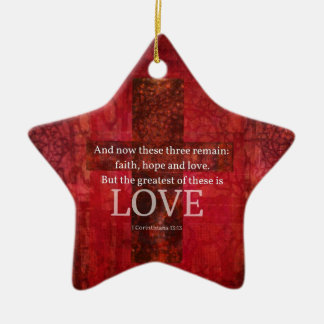 1 Corinthians 13:13 BIBLE VERSE ABOUT LOVE Christmas Ornament