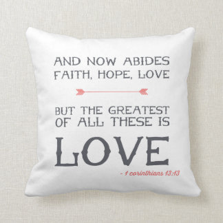 1 Corinthians 13:13 | Bible Verse Art Cushion