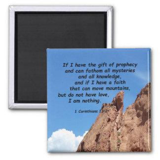 1 Corinthians 13:2 Square Magnet