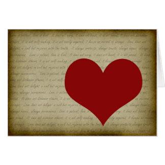 1 Corinthians 13:4-7 #4 Card