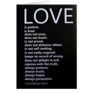 """1 Corinthians 13:4-7 DESCRIBES """"OUR LOVE!"""" Card"""