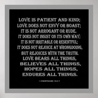 1 Corinthians 13:4-7 true love Poster
