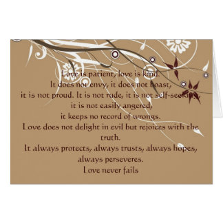1 Corinthians 13: 4-8 Greeting Card
