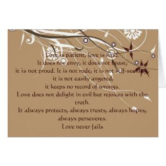 1 Corinthians 13: 4-8 Card