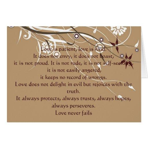 1 Corinthians 13: 4-8 Greeting Card
