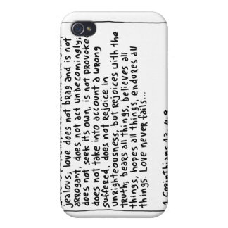 1 Corinthians 13 4-8 Covers For iPhone 4