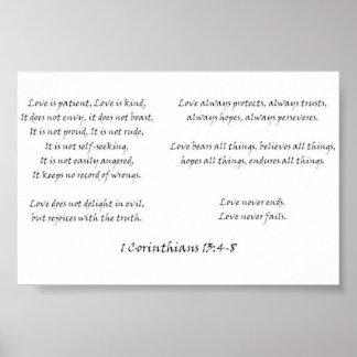 1 Corinthians 13:4-8 Poster