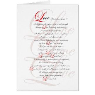 1 Corinthians 13 Greeting Card