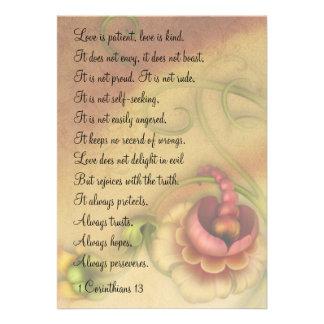 1 Corinthians 13 Love is Patient Mini Prints Invitation