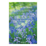 1 Corinthians 13, lovely bluebells poster