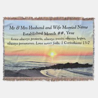 1 Corinthians 13 PERSONALIZED WEDDING BLANKET