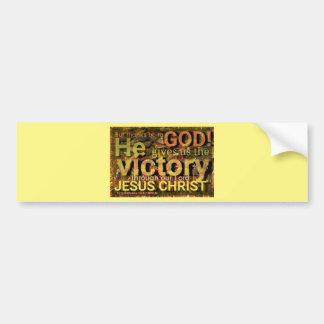1 Corinthians 15:57 nivuk Bumper Sticker