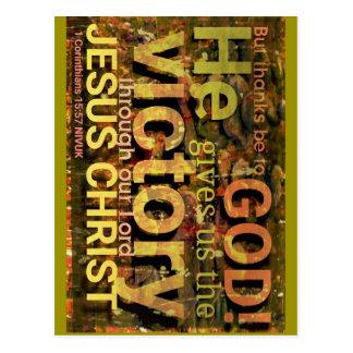 1 Corinthians 15:57 nivuk Postcard