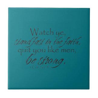 1 Corinthians 16:13 Tile