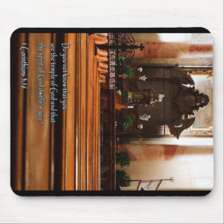 1 Corinthians 3:16 Church Pews Mouse Pad