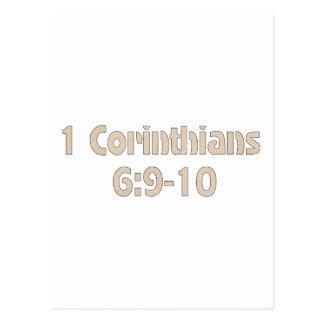 1 Corinthians 6:9-10 Postcard