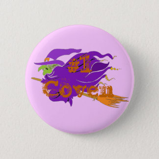 #1 Coven Classic Witch Button. Customize Me! 6 Cm Round Badge