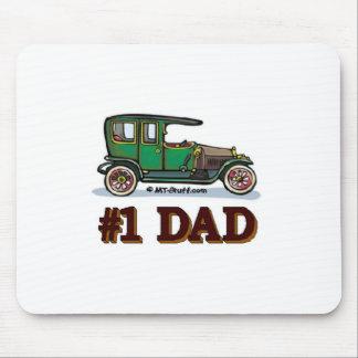 #1 Dad Antique Car Mousepad