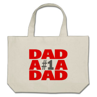 #1 Dad Tote Bags