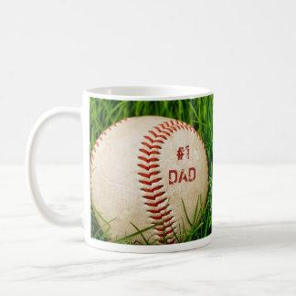 #1 Dad Baseball Mug