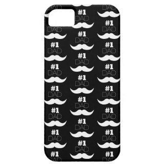 #1 Dad Black and White Mustache - Number One iPhone 5 Case