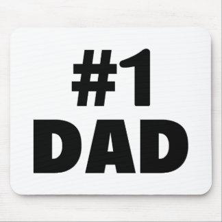 #1 Dad (Blk) Mouse Mat