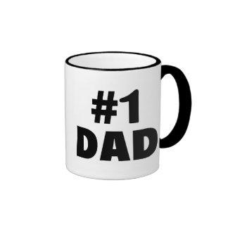 #1 Dad (Blk) Coffee Mug