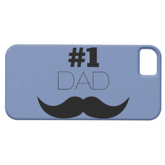 #1 Dad Blue and Black Mustache - Number One Barely There iPhone 5 Case