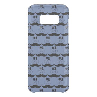 #1 Dad Blue and Black Mustache - Number One Uncommon Samsung Galaxy S8 Case