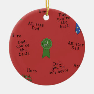 # 1 Dad Christmas ornament