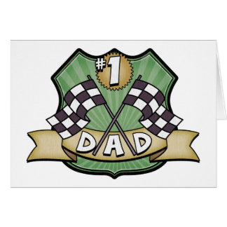 1 Dad Father s Day Race Fan Greeting Card