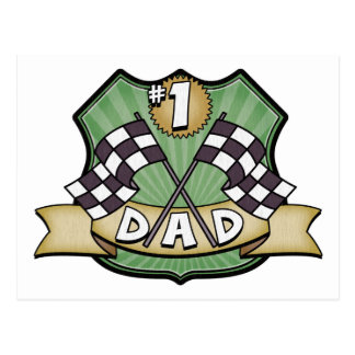 1 Dad Father s Day Race Fan Post Cards