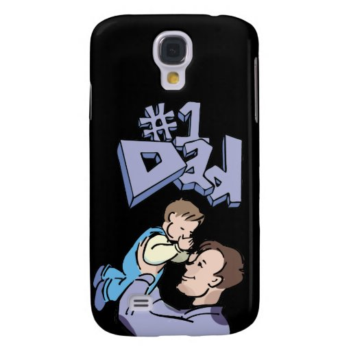 #1 Dad Father's Day Samsung Galaxy S4 Cases