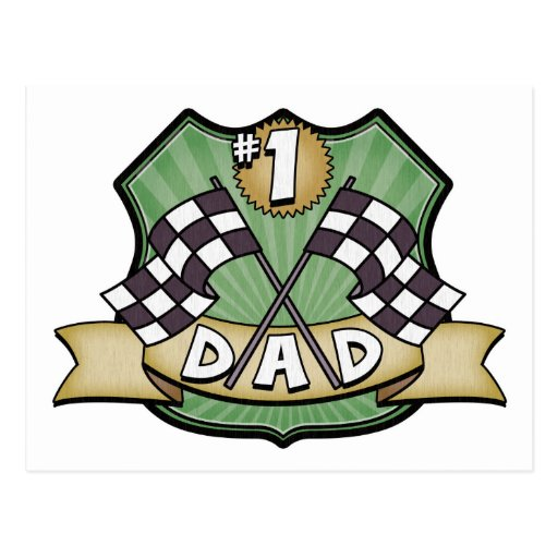 #1 Dad Father's Day Race Fan Post Cards