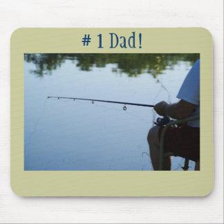 # 1 Dad!, Fishing man Mouse Pad