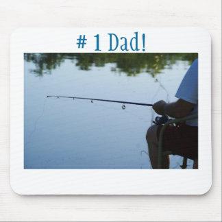 1 Dad Fishing man Mousepads