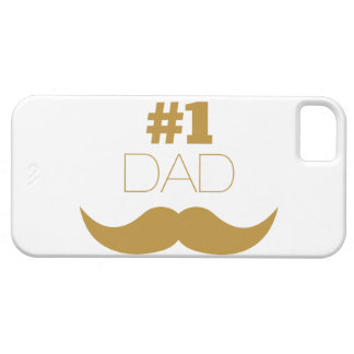 #1 Dad Gold Mustache - Number One iPhone 5 Case