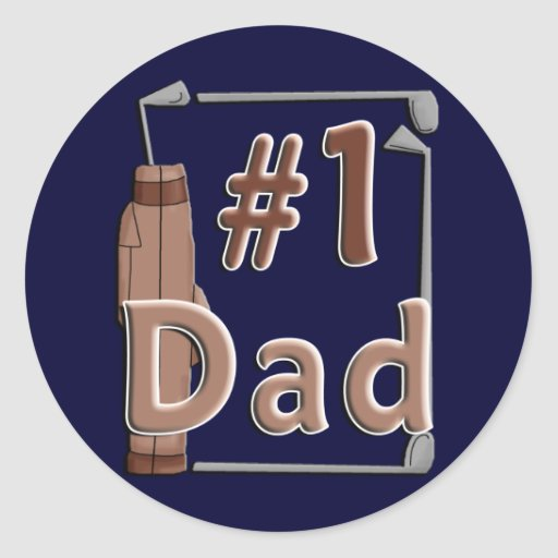 #1 Dad Golf Playing Father's Day Sticker