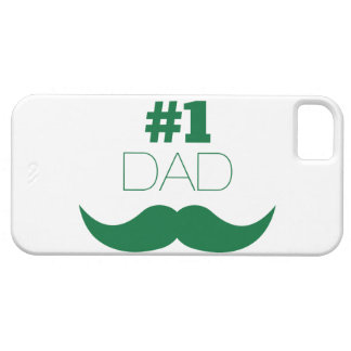 #1 Dad Green Mustache - Number One Barely There iPhone 5 Case