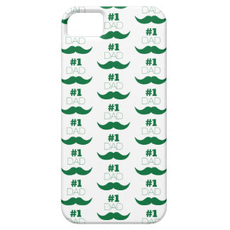 #1 Dad Green Mustache - Number One iPhone 5 Case