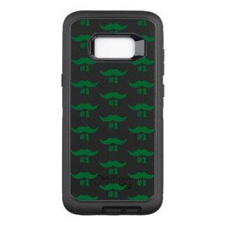 #1 Dad Green Mustache - Number One OtterBox Defender Samsung Galaxy S8+ Case