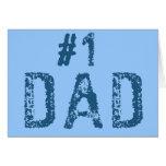 #1 Dad Greeting Card