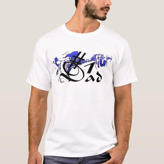 #1 Dad Guitar Blue T-Shirt