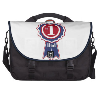 1 Dad - Happy Father s Day Laptop Bags