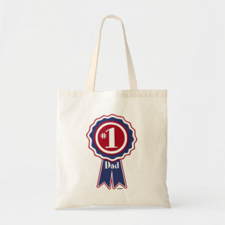 #1 Dad - Happy Father's Day Canvas Bag